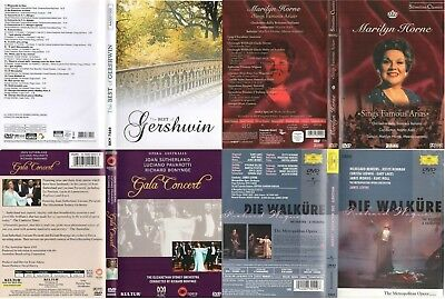Lot 47 original DVDs | Classical Music |DECCA, Deutsche Grammophon, EMI & other