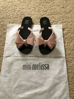 d5d3b7f69 NWOB Mini Melissa Mel Dreamed By Melissa Harmonic Bow Flip Flop Size 13  (Youth)