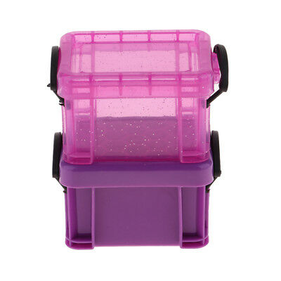 1/6 Candy Color Storage Case for 1/6 Dolls House Furniture Accessory Purple