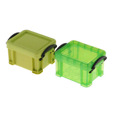 1/6 Candy Color Storage Case for 1/6 Dolls House Furniture Accessory Green