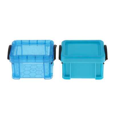 1/6 Candy Color Storage Case for 1/6 Dolls House Furniture Accessory Blue