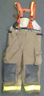 44x28 Globe Firefighter Pants With Suspenders Turnout Bunker Fire Gear P953