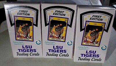 3 LSU TIGERS All Sports Cards 1st Edition Unopened Boxes 36 packs each Box
