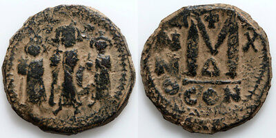 Byzantine coin AE 25mm Follis Heraclius 610-641 AD-Constantinople-Year 10-Δ