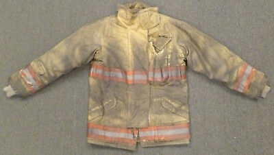 38x32 Burnt Firefighter Jacket Securitex Turn Out Gear J666 Great for Halloween