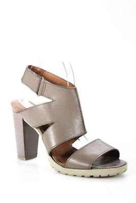 e4a78a4f29d Saks Fifth Avenue Womens Sandals Size 8M Beige Leather Open Toe Ankle Strap