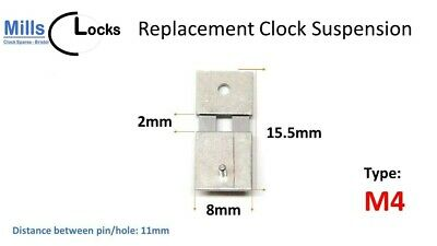 Steel Clock Pendulum Suspension Spring. (15.5mm x 2mm x 8mm) (Type M4)
