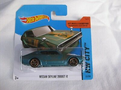 Hot Wheels 2014 HW City Nissan Skyline 2000GT-R Faster Than Mint In Short Card