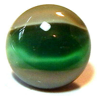 FABULOUS ANTIQUE 19th CENTURY DOVE GRAY & JADE GLASS BUTTON w/ROSETTE SHANK