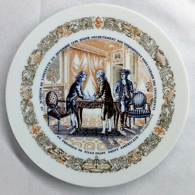 1973 D'arceau Limoges Lafayette Legacy Collection Plate Number 1 With COA