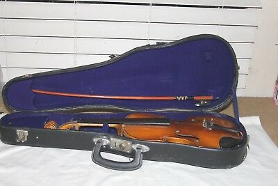 Vintage 1970 KISO SUZUKI 3/4 Violin Stradivarius Copy w/Case & Bow Made in Japan