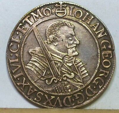 Germany Saxony 1/4 Taler 1654-CR VF/Extremely Fine
