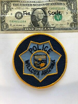Older Vintage Willcox Arizona Police patch un-sewn mint condition (hard to find)