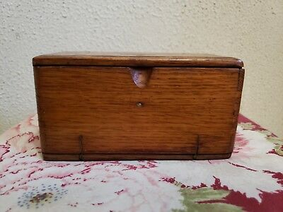 "Antique1889 Singer Dovetail ""Oak"" Puzzle Box with about 19 attachments"