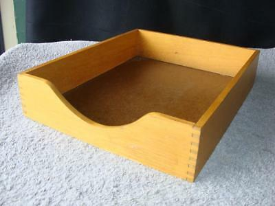 Vintage Wood Desk Tray Organizer / Dovetail Joints
