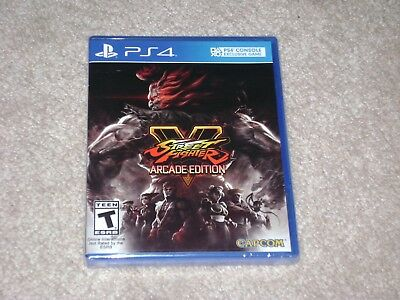 Street Fighter V Arcade Edition...ps4...***sealed***brand New***!!!!!!!!