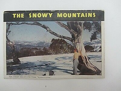 AUSTRALIAN vintage photographic POSTCARD VIEW FOLDER SNOWY MOUNTAINS 1960s