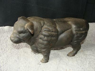 Heavy Reproduction Cast Iron Bull / Cow Bank