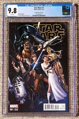 Star Wars #1 – Campbell Cover – Marvel Comics 2015 – CGC 9.8 NM/MT
