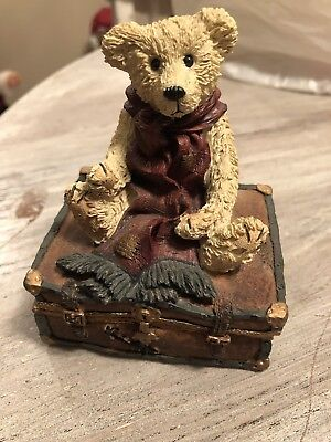 """Boyds Bears Bearstone Collectibles. Plays """"Let Me Be Your Teddy Bear"""""""