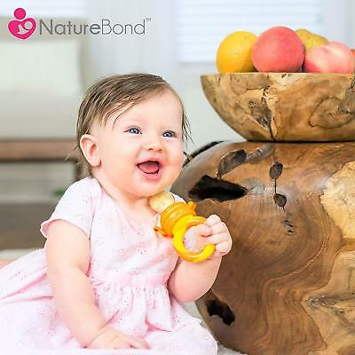 NatureBond Baby Food Feeder/Fruit Dummy Pacifier 2 Pack Infant Teething Toy