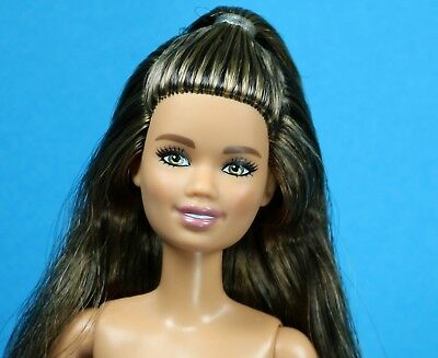 Barbie Fashionista 97 Kitty Meow Mix Christie Face Brown Hair nude PETITE
