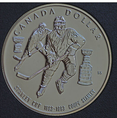 1993 Canada Stanley Cup 100th anniversary BU Silver dollar - coin only