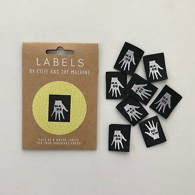 HAND MADE - KatM - sew in woven tags clothing labels FREEPOSTAU