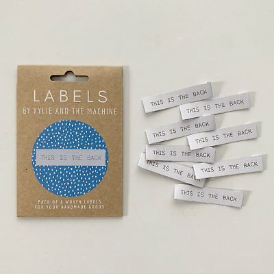 This is the back - end fold - KatM -sew in woven tags clothing labels FREEPOSTAU