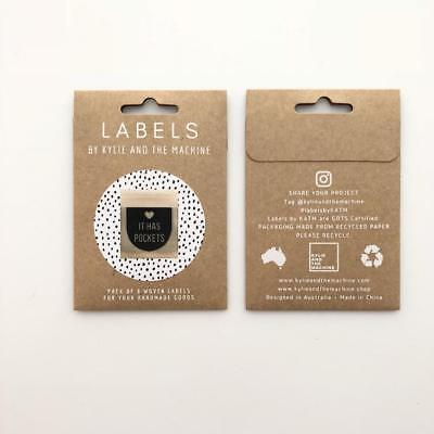 It has pockets - KatM - sew in woven tags clothing labels FREEPOSTAU