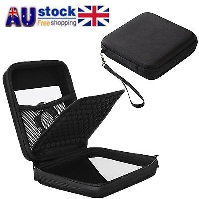 AU Shockproof Carry Case Storage Bag for CD DVD Blu-ray & External Hard Drive