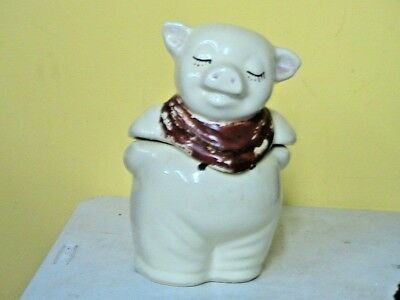 "SHAWNEE ""Smiley"" Pig Cookie Jar Pink Bib 271"