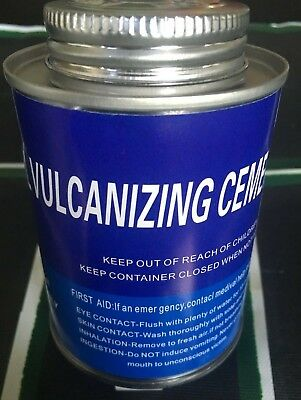 HEAVY DUTY BLUE CHEMICAL VULCANIZING CEMENT TIRE PATCH GLUE 8oz CAN