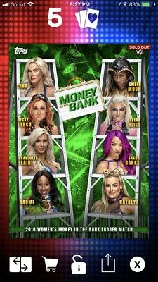 Topps WWE Slam MITB Money In The Bank Poster Digital Card Bliss Lynch Banks