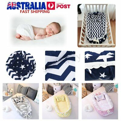 Portable Baby Sleep Nest Mattress Bed Breathable Cotton Nursery Cushion Pillow