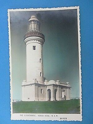 VINTAGE photo postcard THE LIGHTHOUSE NORAH HEAD NSW