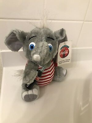 """Vtg 1993 Coca-Cola (Play By Play) 10"""" Elephant Plush In Swimsuit New W/ Tags!"""
