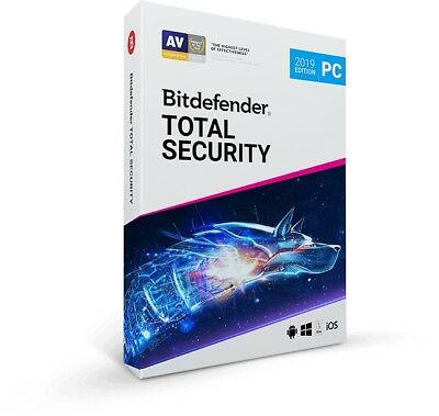 Bitdefender Total Security 2019 | 1 Device 5 Years Subscription - Download Only