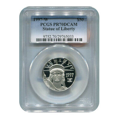 Certified Platinum American Eagle Proof 1997-W Half Ounce PR70DCAM PCGS