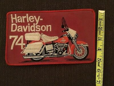 Vintage Harley Davidson Patch 1974  Large