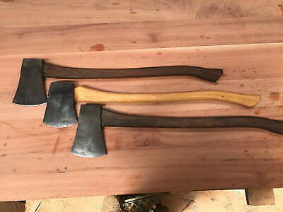 vintage axes 1/ elwell 4lbs 2/not branded 4lbs   have been sharpened