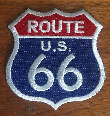 ROUTE 66 embroidered sew on / iron on Patch