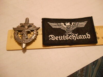 Military Dagger Maltese Cross & Eagle Shirt Pin or Medal & Deutschland Patch