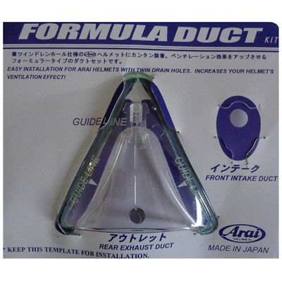 Arai Formula Rear Exhaust Duct Clear (From Kit Part No: 2910)