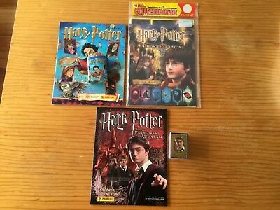 3 HARRY POTTER STICKER ALBUMS COMPLETE WITH ALL STICKERS Not Inserted by PANINI