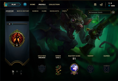 League of Legends EUNE account | 20 champs | 2 Skins | Unranked | Smurf | Lvl 30