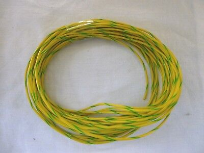 N,OO OR O GAUGE MODEL RAILWAY YELLOW / GREEN  WIRE x 10 METRES