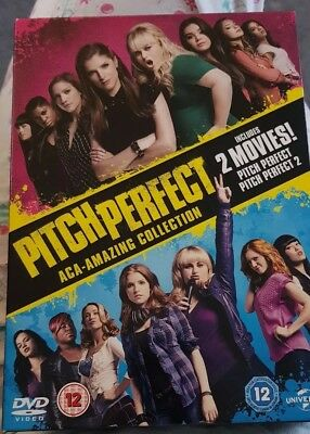 Pitch Perfect 1 & 2 2 Movie Collection 2 Disc DVD Box Set