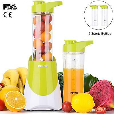 Travel Juicer Blender with Two Portable Bottles (21+21Oz) Personal Size