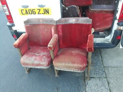 vintage cinema seats 50 per seat collect from m389st